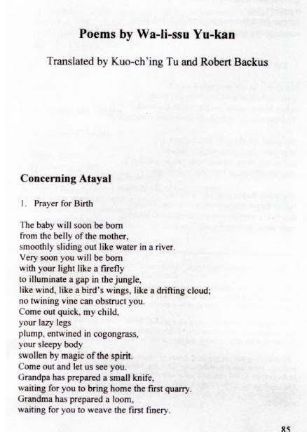 """Concerning Atayal"""