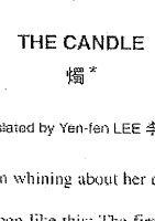 """The Candle"""