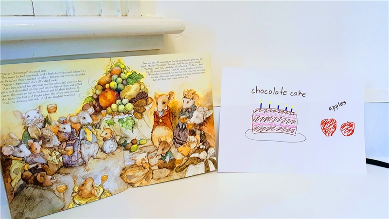 """12142019 American shelf storytelling, """"The Christmas Mouse"""" by Anna"""