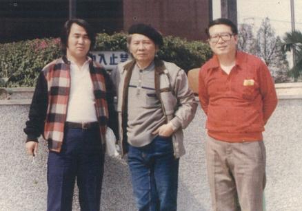 1985,與吳錦發、徐秀田。