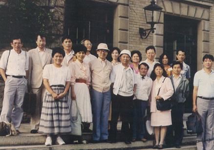 1990,康乃馨大學台灣文學研究年會留影。