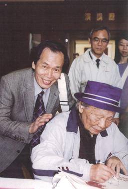 2003,「鍾肇政文學國際學術會議」與張良澤。