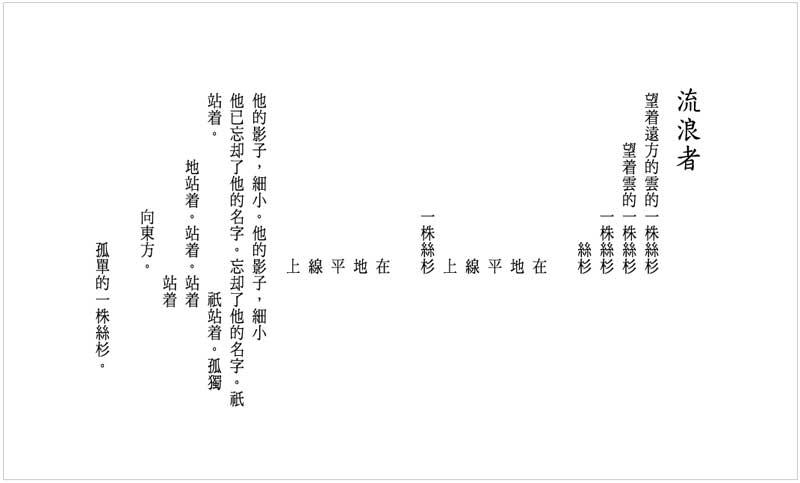 白萩詩作〈流浪者〉